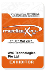Plastic exhibitor cards
