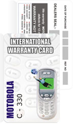 Plastic Warranty Cards Manufacturers